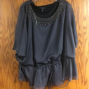 Dress Barn collection 22w silvery gray cocktail